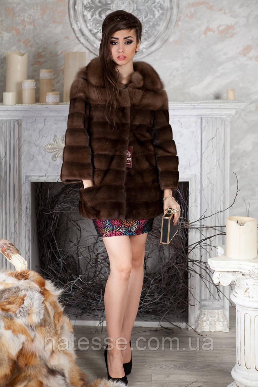 """Шуба из куницы и американской норки """"Клара"""" marten and mink fur coat jacket"""