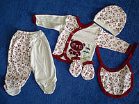 """Подарочный набор для новорожденного """" 5 предметов 100 % хлопок"""