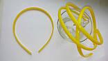 Ободок пластиковый 0,8 см желтый, фото 2