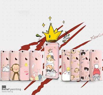 """Iphone 6 / 6S / 6 Plus ультратонкий противоударный чехол накладка защита 360* прозрачный с рисунком """"GW t"""""""