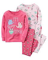 Комплект пижам для девочек carters +децкая одежда картерс