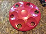 Колпаки колесные заз 1102 1103 таврия славута Красные к-кт 4 шт, фото 9