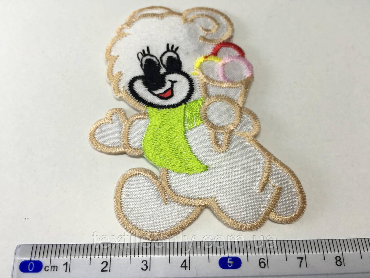 Детская нашивка Мишка с мороженым