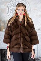 """Полушубок жилет из куницы под соболя """"Яна"""" marten fur coat jacket, фото 1"""