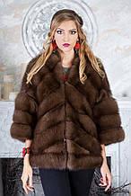 "Кожушок жилет з канадської куниці ""Яна"" marten fur coat jacket"