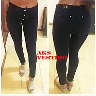Женские модные черные штаны с завышенной талией (Турция)