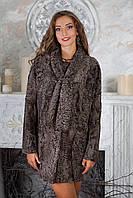 Пальто из каракульчи Swakara свакара с шарфом, фото 1