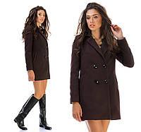 И0070 Пальто пиджак шоколад