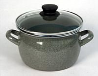 Кастрюля эмалированная сферической формы 2,5 л.(мрамор-1)
