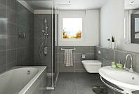 Интерьер ванной с душевой кабиной - легко, просто и уютно