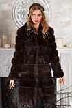 "Шуба полушубок из соболя баргузина ""Мадлен"" sable jacket fur coat , фото 2"