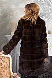 "Шуба полушубок из соболя баргузина ""Мадлен"" sable jacket fur coat , фото 3"