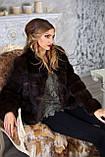 "Шуба полушубок из соболя баргузина ""Мадлен"" sable jacket fur coat , фото 4"