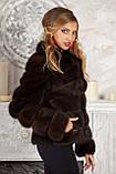 "Шуба полушубок из соболя баргузина ""Мадлен"" sable jacket fur coat , фото 6"