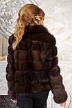 "Шуба полушубок из соболя баргузина ""Мадлен"" sable jacket fur coat , фото 7"