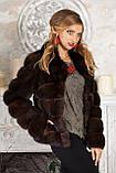 "Шуба полушубок из соболя баргузина ""Мадлен"" sable jacket fur coat , фото 8"