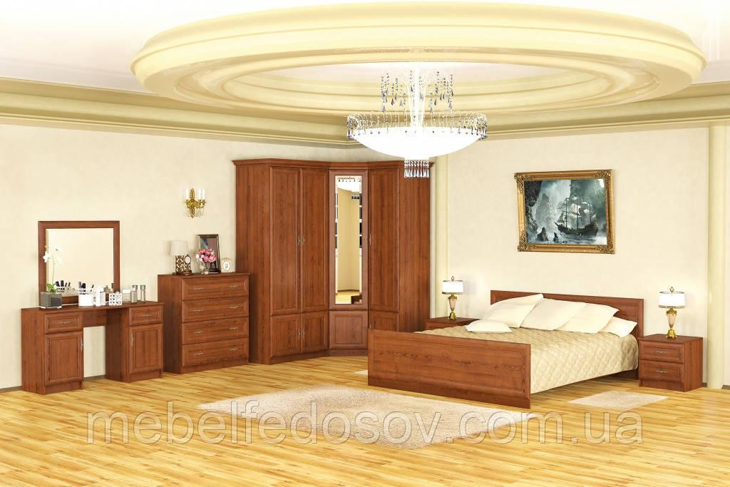 Набор для спальни №2 Даллас (Мебель-Сервис)  каштан