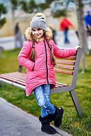 Детская куртка с мехом на капюшоне