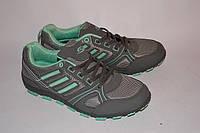 Женские кроссовки BLY серые с бирюзой OK-9018, фото 1