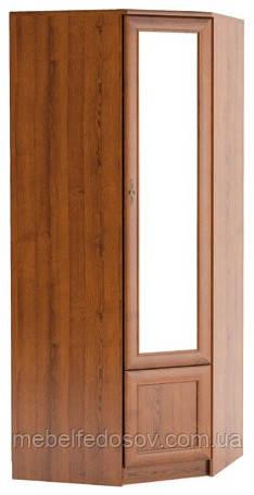 Даллас; шкаф угловой; каштан (Мебель сервис)
