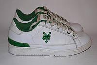 Шузы-кроссовки женские белые с зеленым OK-9019, фото 1