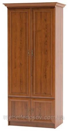 Даллас; шкаф 2Д; каштан (Мебель сервис)