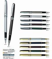 Ручка Baixin капиллярная металлическая   RP920 (сер.+синие+золото)
