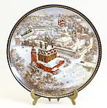Фарфоровая настенная тарелка, Ярославский кремль, Золотое кольцо России, 1991 год, Былинный фарфор, фото 4