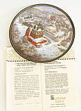 Фарфоровая настенная тарелка, Ярославский кремль, Золотое кольцо России, 1991 год, Былинный фарфор, фото 3
