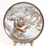 Фарфоровая настенная тарелка, Ярославский кремль, Золотое кольцо России, 1991 год, Былинный фарфор, фото 7