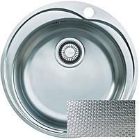 Мойка кухонная круглая нержавейка декор Franke Ronda ROL 610-41