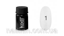 "Гель краски ""Kodi professional"" №1(белый) 4 мл."