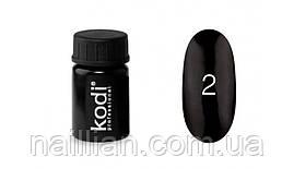 """Гель краски """"Kodi professional"""" №2 (черный) 4 мл."""