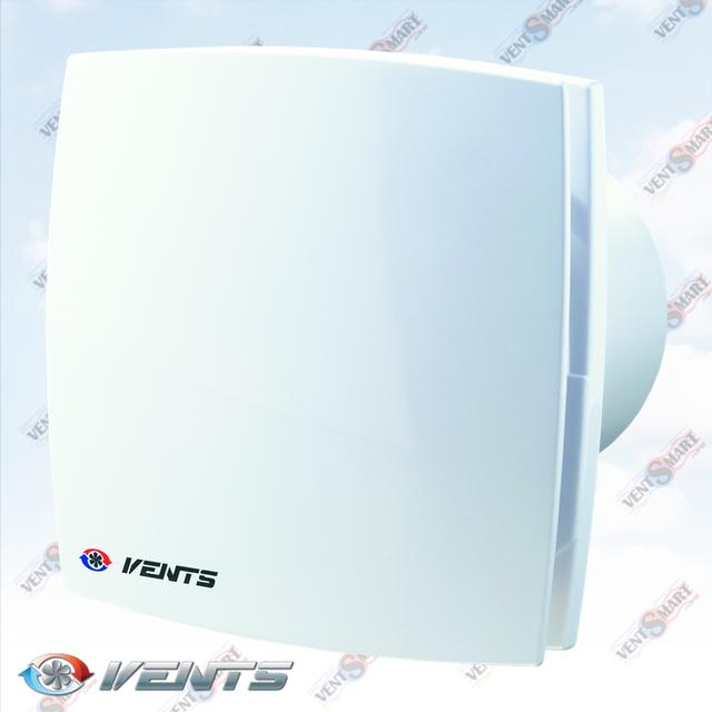 Внешний вид (фото, изображение) дизайнерского декоративного вентилятора Venеts 125 LD белого цвета. Вентилятор обладает привлекаельным и современным дязайном, имеет малое энергопотребление, высокую продуктивность и низкий уровень шума. Модификации Вентс ЛД: с обратным клапаном, с двигателем на подшипниках, со шнурком, с реле времени, с реле влажности, различных цветов: хром, золото, блестящий, шлифованный алюминий.