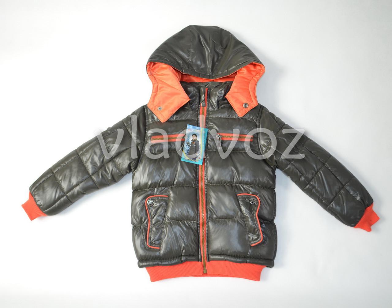 Детская куртка евро зима 6-7 лет коричневая