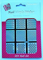 Трафареты для дизайна ногтей NF-224