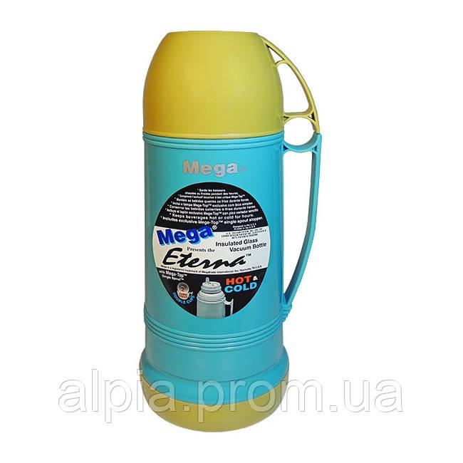 Термос Mega ЕТ100Т 1 л бирюзовый/синий
