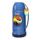 Термос Mega ЕТ100Т 1 л бирюзовый/синий, фото 6