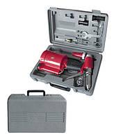 Пистолет заклепочный пневматический в чемодане с аксессуарами, INTERTOOL  PT-1304