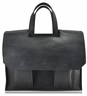 Портфель мужской кожаный черный , фото 1