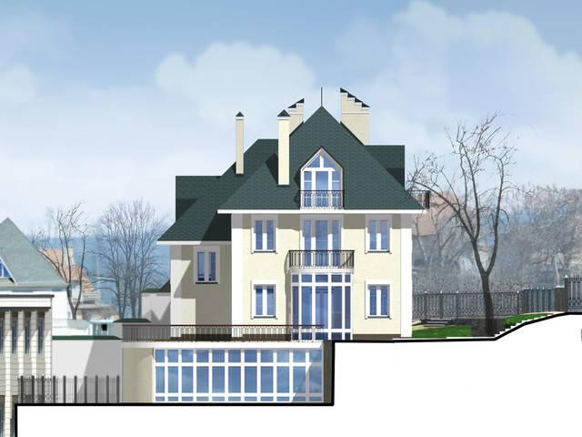 Визуализация фасада здания