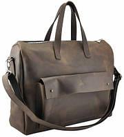 Портфель мужской кожаный коричневый , фото 1