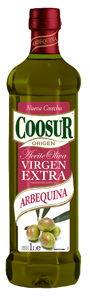 Оливковое масло Coosur Arbequina extra virgen Испания, 1 л.