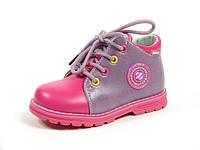 Детские ботинки Clibee:F-587 Сирень+Розовый, Размеры: с 20 по 25