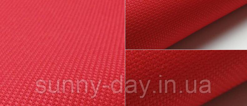 Канва для вышивки Аида 14 красная 50*50см