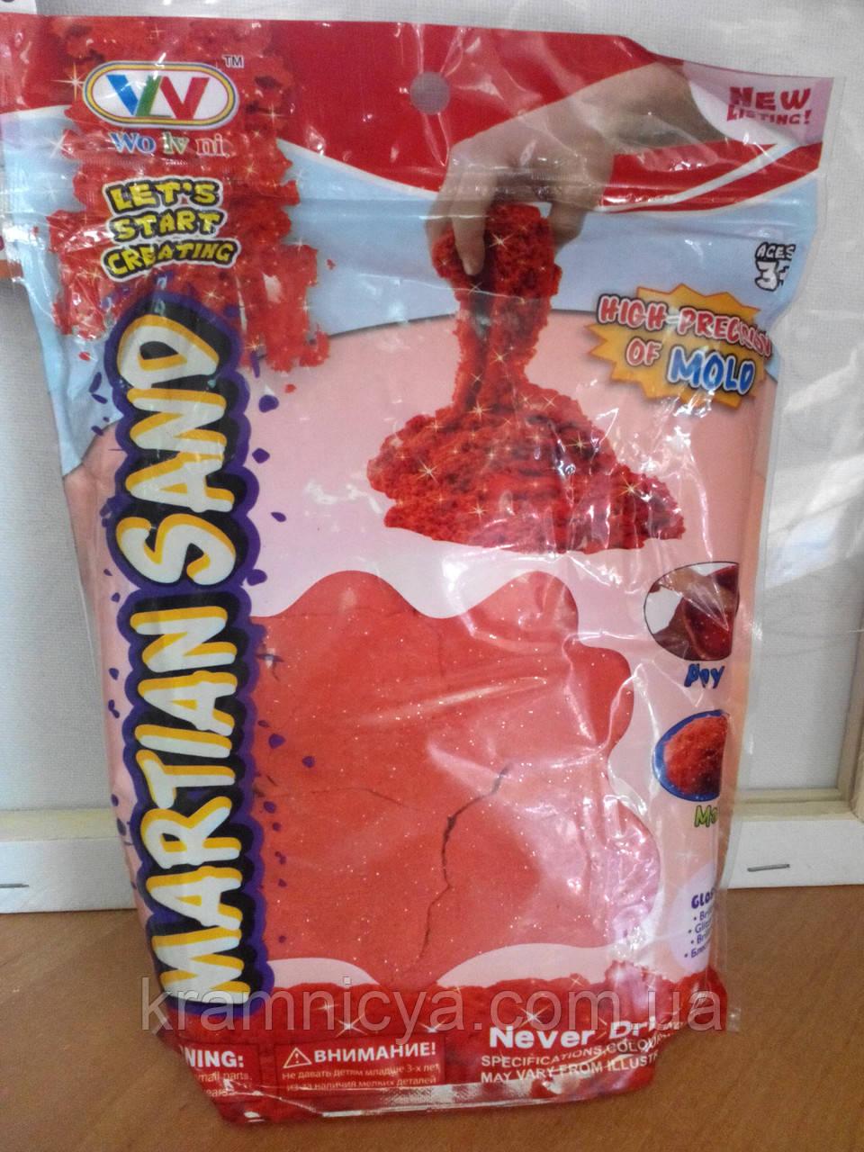Песок для творчества в пакете, 1000 г. (разные цвета, с блёстками)