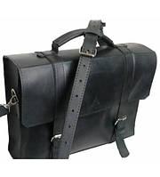 Портфель мужской кожаный черный