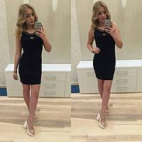 Платье с цепочкой черное
