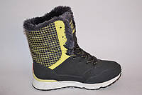 Сапоги женские Anda зима серые с желтым OK-9037