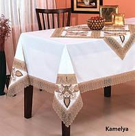 Скатерть с кружевом KAYAOGLU Kamelya 160х350.